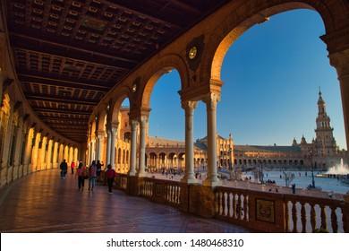 Plaza de España en Sevilla, España