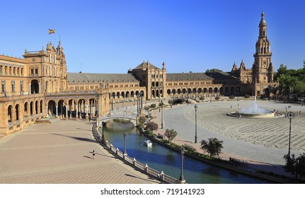 Plaza de Espana or Spain Square in Seville, Andalusia, Spain