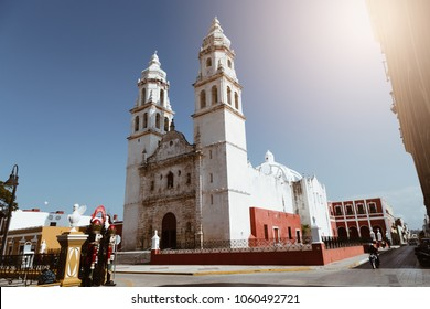 Plaza de la Independencia, in Campeche, Mexico's Old Town of San Francisco de Campeche