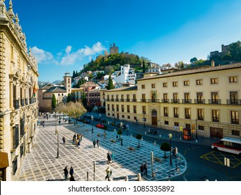 Plaza de Santa Ana, Historic and Artistic Center of Granada, Granada, Andalusia, Spain, Iberian Peninsula