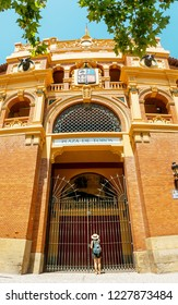 Plaza de toros Bullfighting Coliseum palace in Zaragoza, Spain