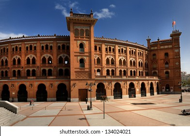 Plaza de Toros de Las Ventas, Famous bullfighting arena in Madrid.. Touristic attraction in Spain.