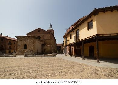 Plaza del Grano in Leon city, spain, tradicional arquitecture