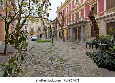 Plaza del Padre Suarez in Granada, Andalusia, Spain