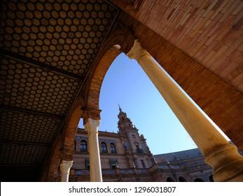 Plaza Espana  -  Parque de Maria Luisa - Seville Spain