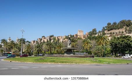 Plaza General Torrijos in Malaga on the Costa del Sol Spain