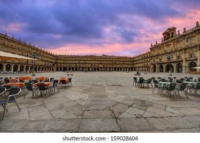 Plaza mayor de Salamanca; Spain.