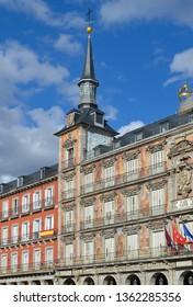Plaza Mayor (Main Square) Architecture, Madrid Spain