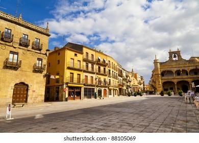 Plaza Mayor Square, Ciudad Rodrigo, Salamanca, Spain
