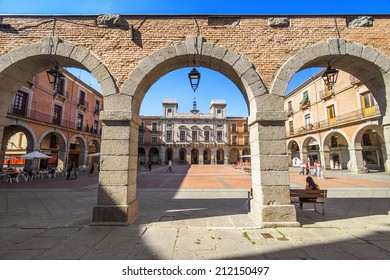 Plaza Mayor(main square) in Avila, Castilla y Leon, Spain