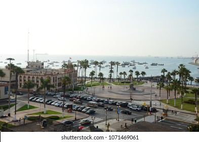 Plaza Miguel Grau next to the Coastguard Captaincy in the Callao district of Lima, Peru