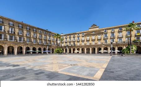 Plaza Nueva in rhe Basque city of Bilbao