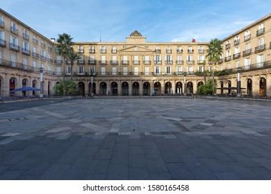 Plaza Nueva square in Bilbao, Basque Country, Europe
