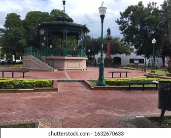 Plaza in Nuevo Laredo with Kiosco at the center.