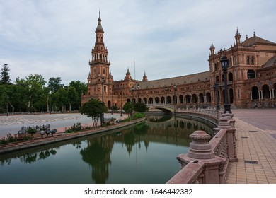 The Plaza of Spain in Seville.