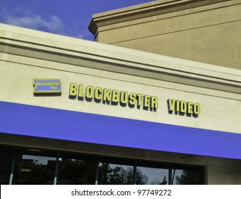 PLEASANT HILL - APRIL 11: Blockbuster Inc. is an American-based chain of VHS, DVD, Blu-ray, and video game rental stores currently under Chapter 11 bankruptcy. April 11, 2011, Pleasant Hill, CA