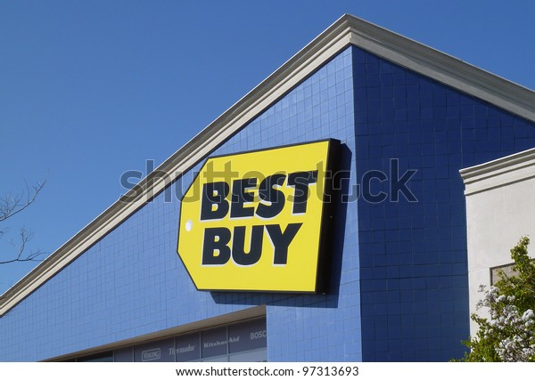 PLEASANT HILL - MARCH 5: Best Buy store sign. Best Buy is an electronics retailer accounting for 19% of the U.S. market. March 5, 2012, Pleasant Hill, CA