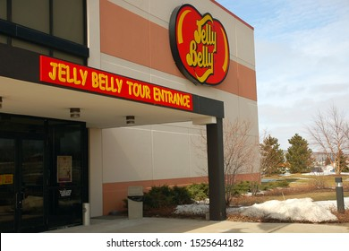 Pleasant Prairie, WI, USA March 11, 2008 The entrance to the Jelly Belly factory , where the public is invited to tour, in Pleasant Prairie, Wisconsin