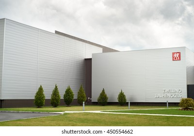 Pleasantville, NY, USA - July 10, 2016: The Zwilling J.A. Henckels building located in Pleasantville, New York.