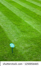 Please keep off the newly cut grass sign