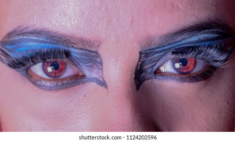 Please look at the eye balls of this model it shows the design of the eye balls which is generally referred for biometry that is the main subject of this image.