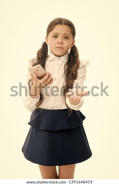 Please One More Call Schoolgirl Ask Stock Photo (Edit Now