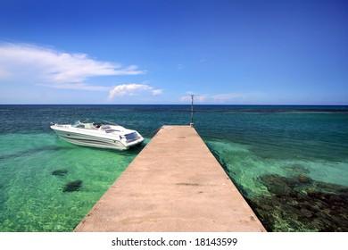 pleasure boat docked