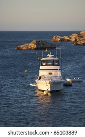 A pleasure boat moored in Geordie Bay, Rottnest Island, Western Australia.