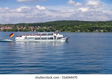 Pleasure boat on Lake Constance