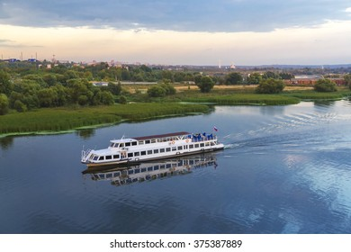 Pleasure boat on the Moscow River