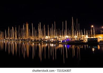 Pleasure and fishing boats moored in old port of Sete Sourth France