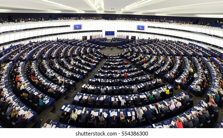 Plenary hall of European parliament in Strasbourg, April 16, 2013