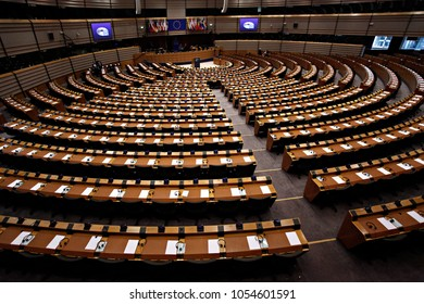 Plenary room of the European Parliament in Brussels, Belgium on Jun. 28, 2016