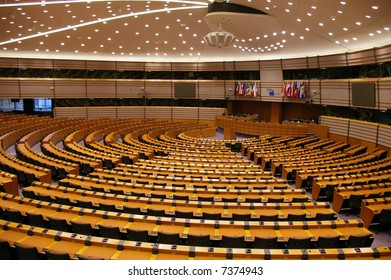 Plenary Room of European Parliament in Bruxelles