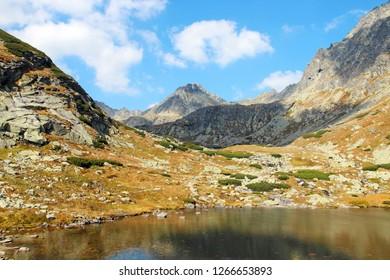 Pleso nad Skokom, beautiful lake in Mlynicka Valley, High Tatras (Vysoke Tatry), Slovakia