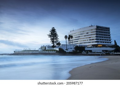 PLETTENBERG BAY, SOUTH AFRICA - July 17, 2014 - The Beacon Island Hotel on an overcast morning