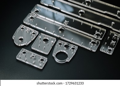 Plexiglass parts for cnc machine. Acrylic form machine parts, laser cutting and engraving