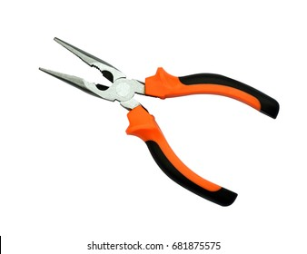 Pliers tool pliers on a white background.