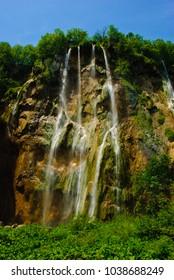 Plitvica lake waterfall