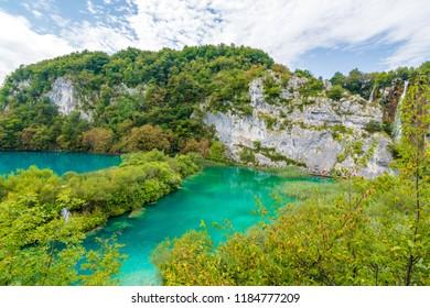 Plitvice, Croatia - September 16 2018: Plitvice National Park.