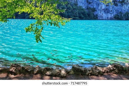 Plitvice Lakes background