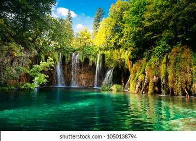 Plitvice lakes, Croatia. Beautiful place visited by thousands of tourists every year.