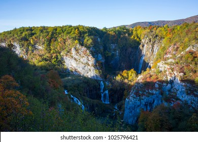 Plitvice lakes, national park in Croatia