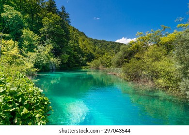 Plitvice lakes - National Park in Croatia.
