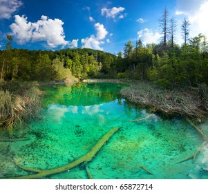 Plitvice Lakes National Park in Croatia. It is on the UNESCO World Heritage list