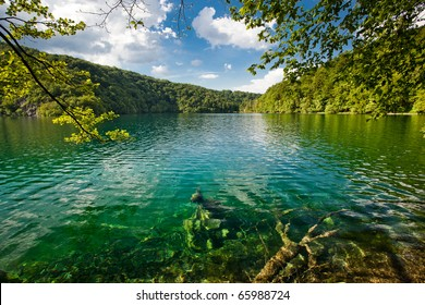 Plitvice Lakes national park in Croatia beautiful Landscape