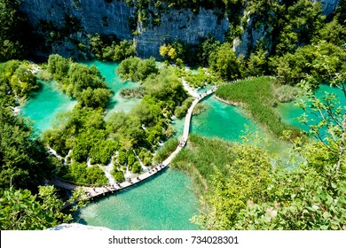 the Plitvice Lakes National Park in Croatia