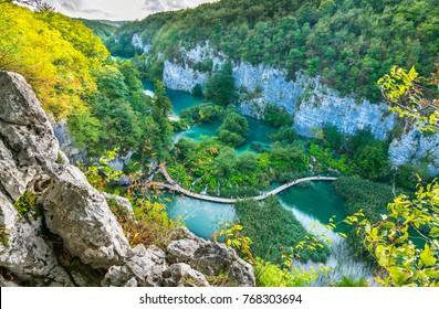 Plitvice Lakes National Park, Croatia, Balkan Peninsula, Europe