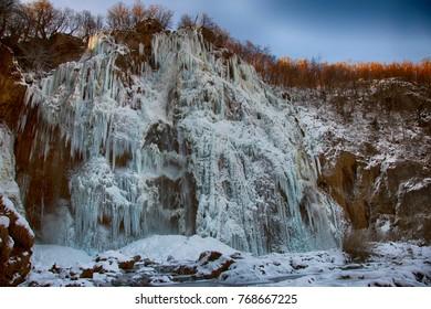 Plitvice lakes (national park in Croatia) in winter