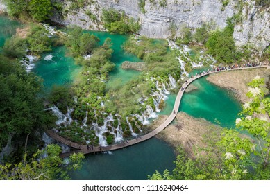 Plitvice Lakes National Park, one of the oldest and the largest national parks in Croatia.